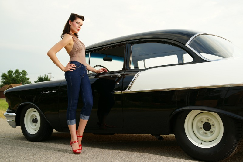 1957 Chevrolet Bel Air150210 Black  White