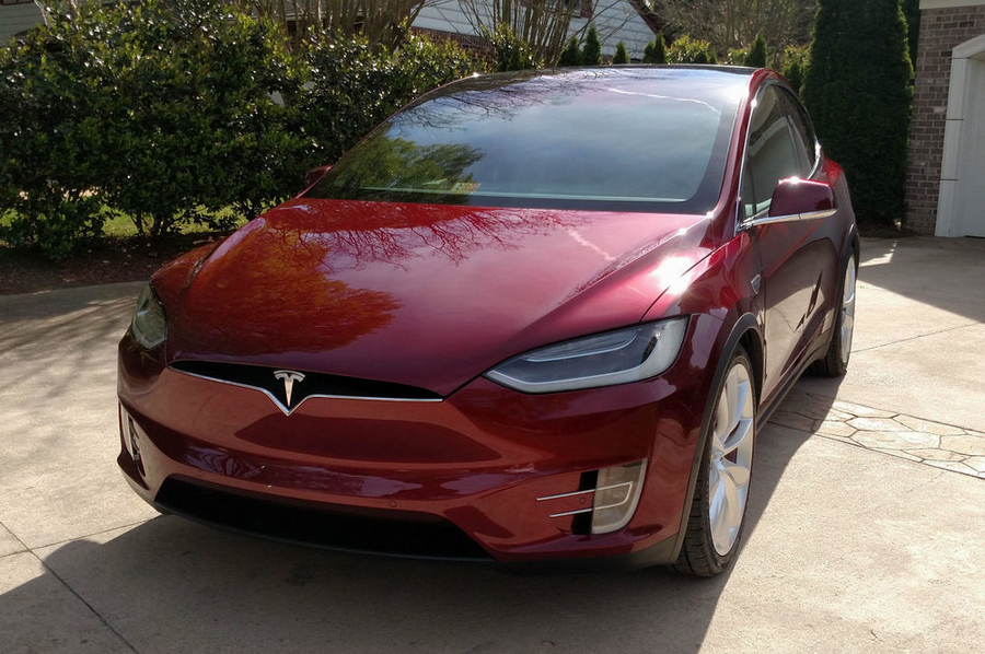 2016 Tesla Model X Founders Red Edition