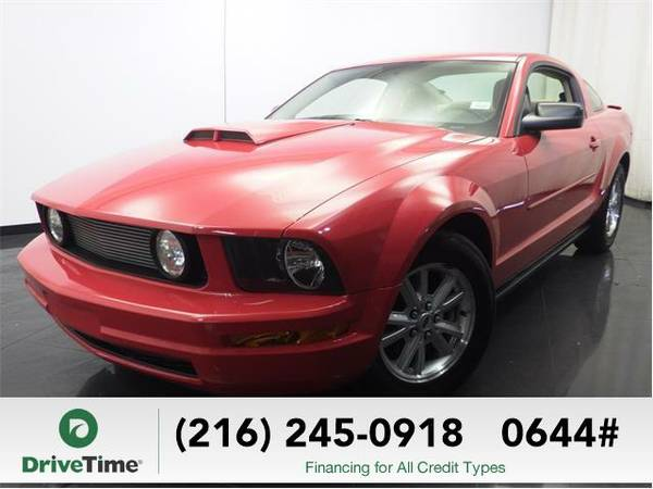 Beautiful 2008 *Ford Mustang* V6 Deluxe (RED) - Clean Title