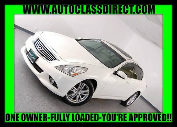 2013 Infiniti G37 Sedan Moonlight White LOW PRICE....WOW!!!!