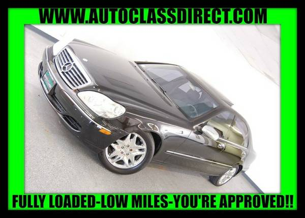 2003 Mercedes-Benz S-Class Black SEE IT TODAY!