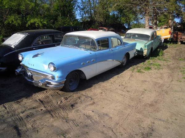 1956 buick 4door sedan V8 auto $3500/trade obo