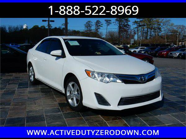 2012 TOYOTA CAMRY LE- MILITARY FINANCING - BAD CREDIT OK ====