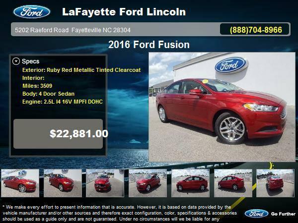 Certified: 2016 Ford Fusion 4 Door Sedan Ruby Red Metallic Tinted...