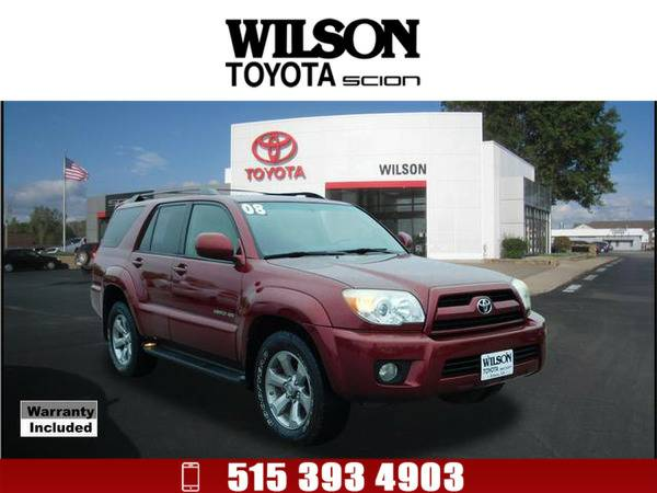 2008 Toyota 4Runner Limited Dk. Red