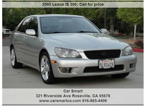 2005 lexus is300 excellent condition we finance (1500 DWN 152 MONTH)