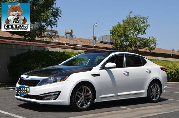 2013 KIA OPTIMA SX-L LIMITED WHITE, LEATHER MOON NAV CARBON FIBER!