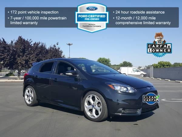 2013 FORD FOCUS ST 2.0 TURBO HATCHBACK SPORT RECARO LEATHER SEATS NAVI