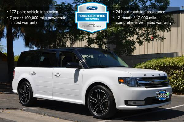 2014 FORD FLEX SPORT PACKAGE LEATHER NAV PANO MOONROOF WHITE!