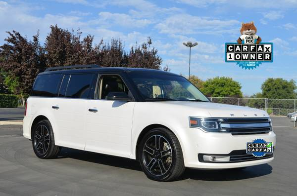 2013 FORD FLEX LIMITED AWD TURBO ECOBOOST LEATHER 3RD ROW MOON NAV !