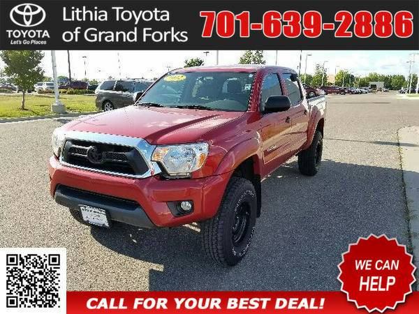 2012 TOYOTA TACOMA DOUBLE CAB RED