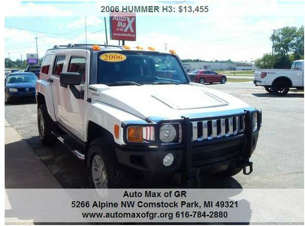 2006 HUMMER H3 4wd ! LEATHER ! MOON ! TOW ! RUNNING BOARDS ! ROOF RACK