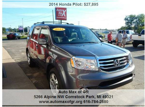 2014 Honda Pilot EX 4x4 ! 3RD ROW ! BACKUP CAM ! ROOF RACK ! BLUETOOTH
