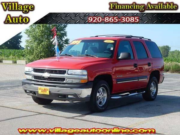 2001 *Chevrolet Tahoe* LS *4X4* With 3rd Row Seating - Chevrolet Red