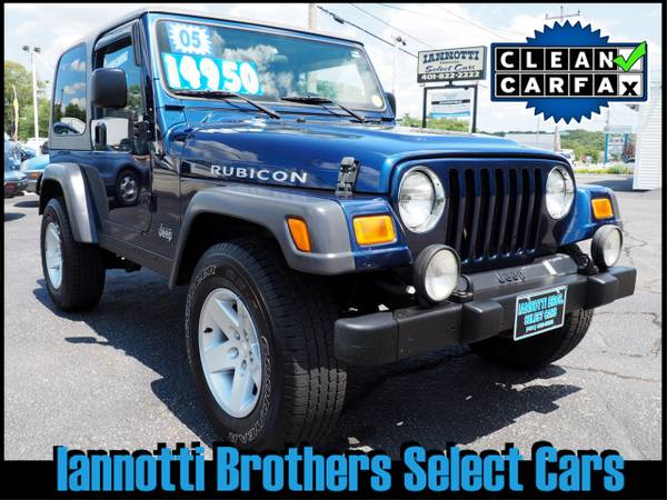 2005 Jeep Wrangler Rubicon 4X4 6-Cyl Auto Air 2-Tops $65 Per Week
