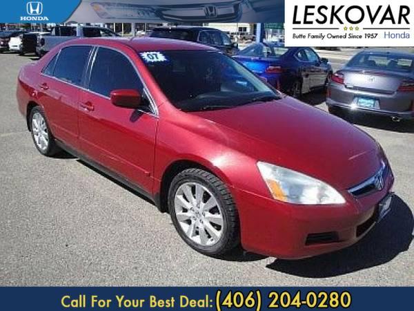 *2007* *Honda Accord Sdn* *4dr Car LX SE* *Moroccan Red Pearl*