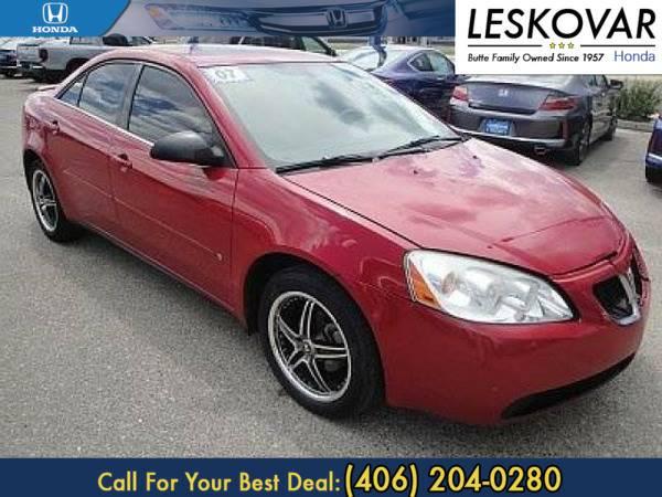 *2007* *Pontiac G6* *4dr Car G6* *Red*