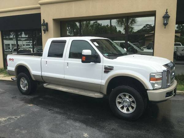 2008 Ford F-350 Crewcab 4x4 KING RANCH PACKAGE TURBO DIESEL ENGINE !!