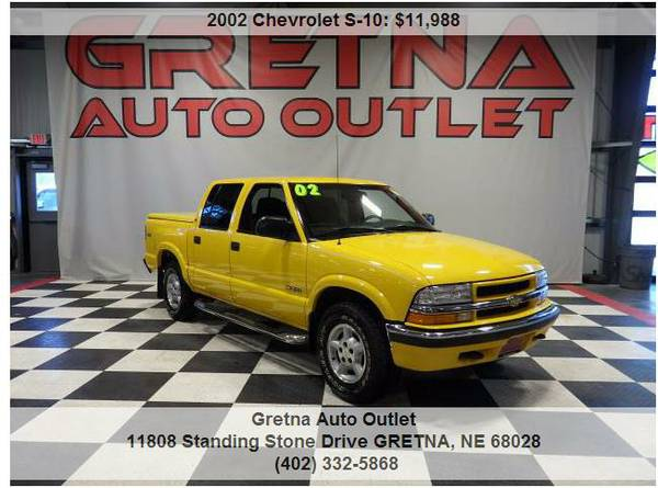 2002 Chevrolet S-10*LS CREW CAB 4X4 ONLY 67,000 MILES MATCHING TONNEAU