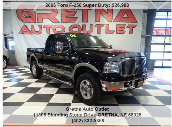 2006 Ford F-250*1 OWNER LARIAT LEATHER ONLY 44,000 MILES DIESEL 4X4!!