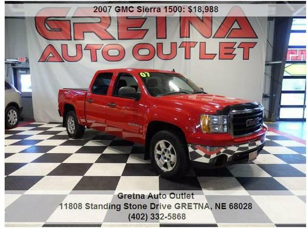 2007 GMC Sierra**SLE CREW CAB 4X4 TONNEAU COVER 111K 5.3L VORTEC V8**