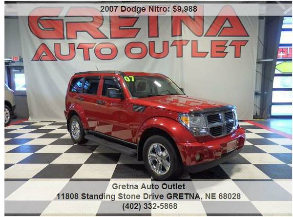 2007 Dodge Nitro**SLT 4X4 ONLY 90K HEATED LEATHER ROOF INFINITY SOUND!