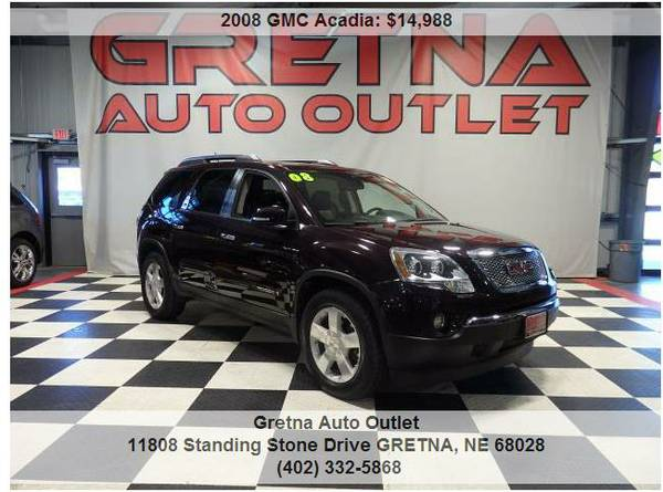2008 GMC Acadia*SLT AWD HEATED LEATHER MOONROOF REAR DVD QUAD SEATING*