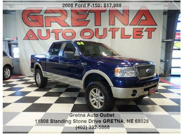2008 Ford F-150**LARIAT LIFTED SUPERCREW NEW TIRES 127K LOADED UP**