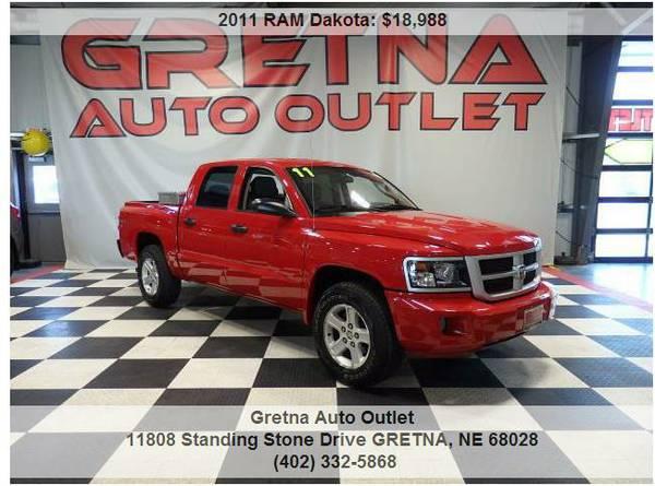 2011 RAM Dakota**BIG HORN 4X4 CREW CAB ONLY 81K HUSKER RED**TEXT 24/7