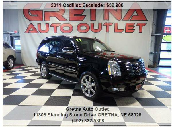 2011 Cadillac Escalade*LUXURY AWD 76K NAV ROOF DVD HEATED/COOLED SEATS