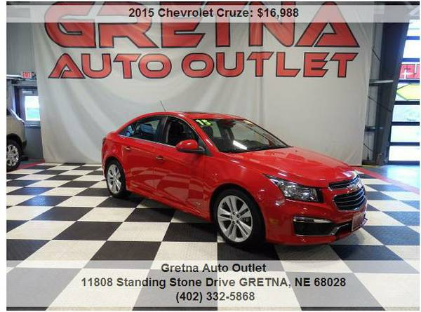 2015 Chevrolet Cruze**LTZ ONLY 41K HUSKER RED TURBO CHARGED!!**CALL US