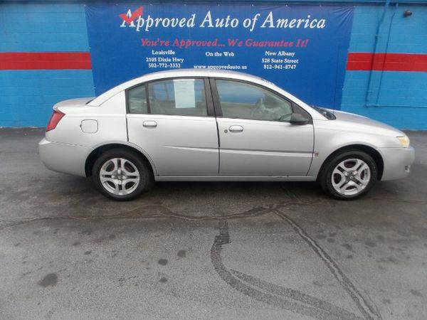2003 *Saturn* *ION* Sedan 3 - $299 Down Back to School Sale!