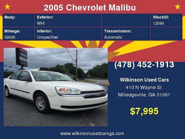 2005 Chevrolet Malibu Base 4dr Sedan