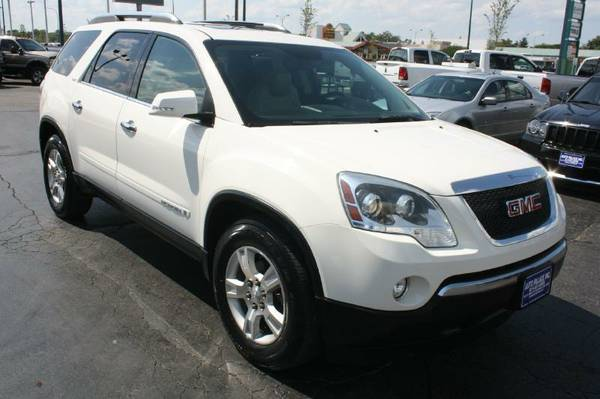 2008 GMC Acadia-3rd Row, Nav, Camera, Leather, Sunroof