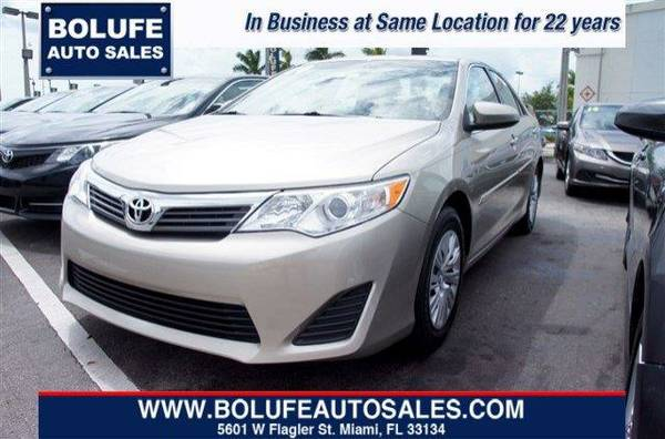 2014 Toyota Camry L (BOLUFE AUTO SALES- GUARANTEED FINANCING)