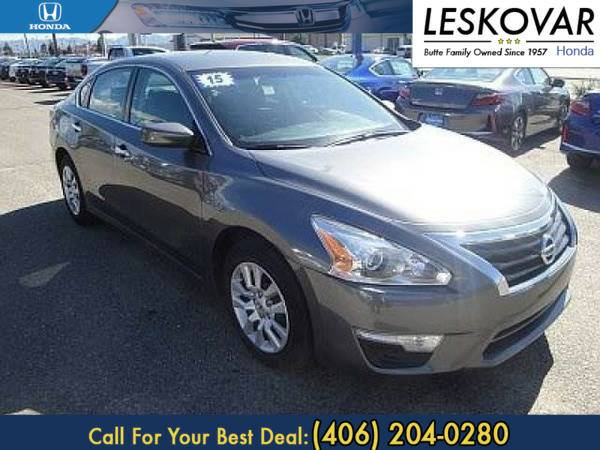 *2015* *Nissan Altima* *4dr Car 2.5 S* *Dark Gray*
