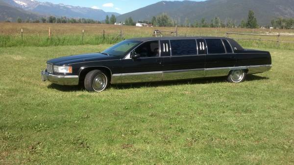1993 Cadillac limo 115k Fleetwood brougham black leather sunroof