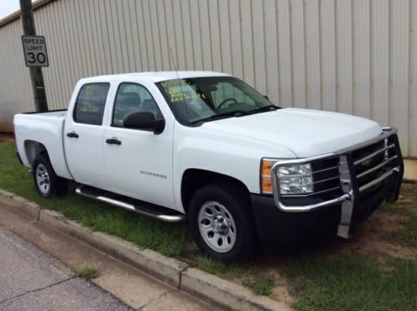 2010 Chevrolet Silverado 1500 Work Truck Crew Cab 2WD White