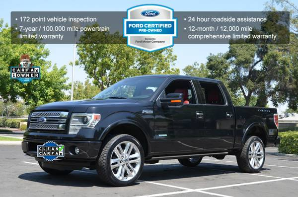 2013 FORD F150 LIMITED EDITION 4X4 ECOBOOST LEATHER MOON NAVI BLACK