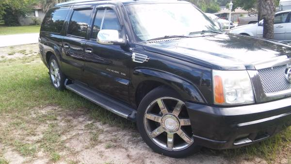 2003 CADILLAC ESCALADE ESV $6900 BEST ON CL. MUST GO MOVING kbb$8500