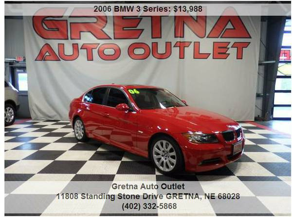 2006 BMW 330XI**XDRIVE AWD HEATED LEATHER 80K V6 IMMACULATE HUSKER RED
