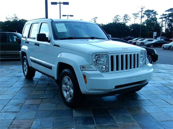2012 JEEP LIBERTY SPORT, White--Military Instant Approvals__Zero Down!