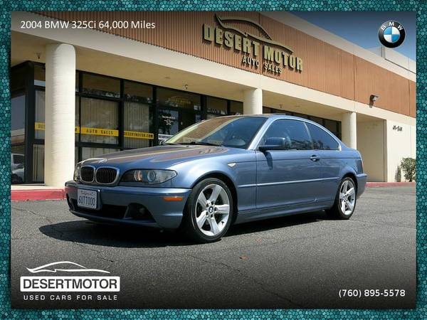 2004 BMW 325Ci 64,000 Miles! Coupe LOADED W/ OPTIONS!