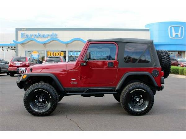 2002 *Jeep Wrangler* Sport - Jeep Red