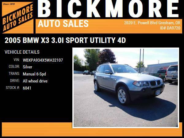 2005 *BMW* *X3* *3.0i Sport Utility 4D*