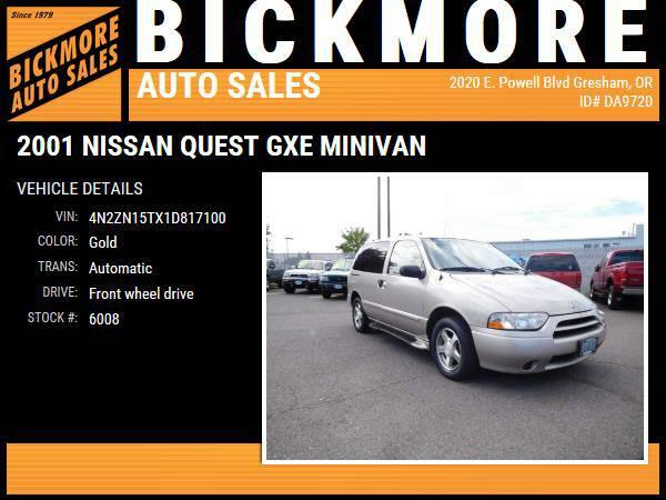 2001 *Nissan* *Quest* *GXE Minivan*