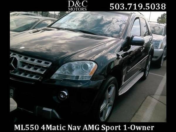 2010 *Mercedes-Benz* *M-Class* *ML550 4Matic AMG Sport Pkg Nav Htd...