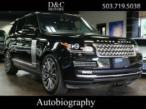 2014 *Land Rover* *Range* *Rover* *Autobiography R-Dvd 1-Owner* SUV