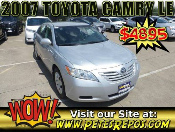 2007 Toyota Camry __ Excellent Toyota For Sale