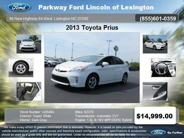 2013 Toyota Prius 5 Door Hatchback Super White